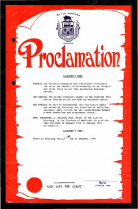Proclamation - Salesmen's Week