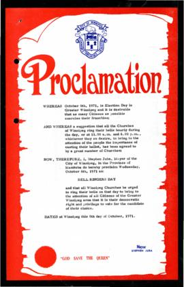 Proclamation - Bell Ringers Day