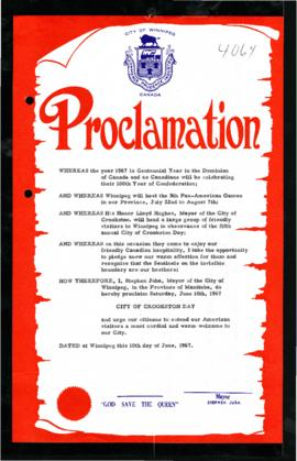 Proclamation - City of Crookston Day
