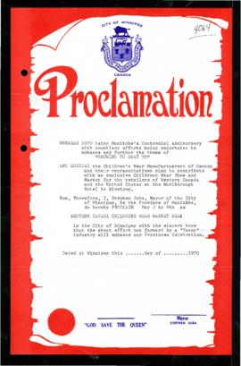 Proclamation - Western Canada Childrens Wear Market Week