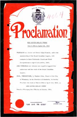 Proclamation - Red River Relay Week