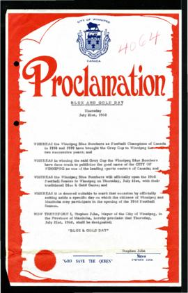 Proclamation - Blue and Gold Day