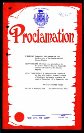 Proclamation - Human Rights Week