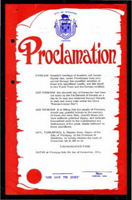 Proclamation - Remembrance Week