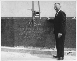 No. 12a - Laying of the cornerstone at new City Hall, May 15, 1964 (shows Mayor Stephen Juba and dedication stone)
