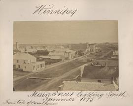 Winnipeg, Main Street looking south, Summer 1875