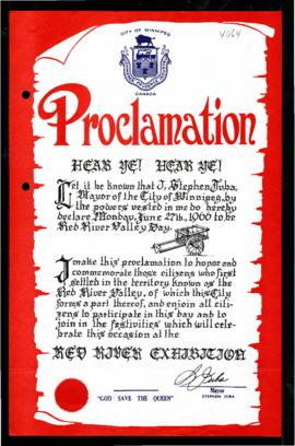 Proclamation - Red River Valley Day