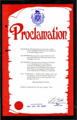 Proclamation - Firearm Safety Week