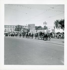 Winnipeg's 75th Anniversary parade - riders on horseback