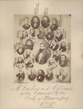 Members and Officials of the Council of the City of Winnipeg, 1875