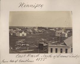 Winnipeg, East Ward, north of Browns Bridge, 1875