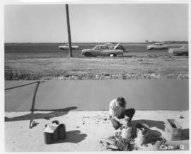 Pavement construction Project Q, Waverley Street from Wilkes Avenue to McGillivray Boulevard, October 11, 1963