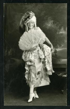 Helen Robertson in costume