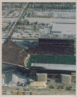 Aerial photograph of the Winnipeg Stadium during the 1991 Grey Cup Game