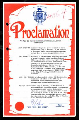 Proclamation - Coin Week