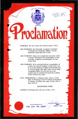 Proclamation - Interfaith Week