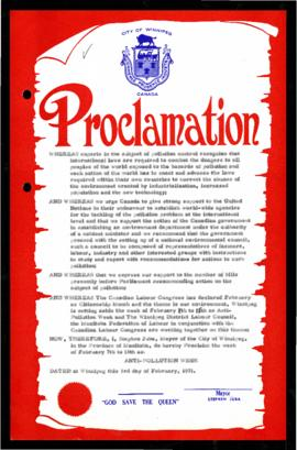 Proclamation - Anti-Pollution Week