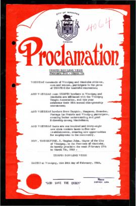 Proclamation - The Tenpin Bowling Week
