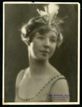 Alice Weir in costume