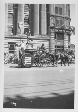 Horse drawn Fire Engine, Douglas Insurance Agencies, Winnipeg's 75th Anniversary Parade