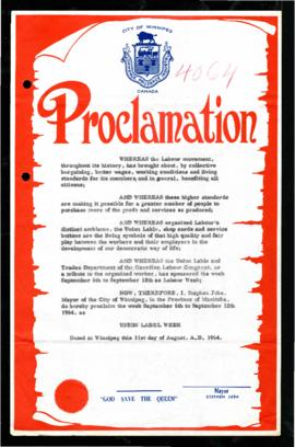 Proclamation - Union Label Week