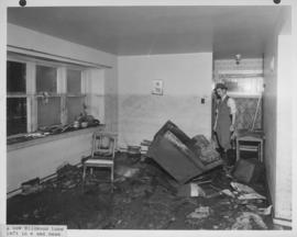 1950 Flood - A new Wildwood home left in a sad mess (interior view of home)
