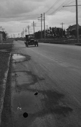 Main Street - Perth to Hartford, Rainfall, June 29, 1932