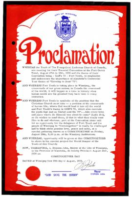 Proclamation - Cometogether Day