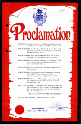 Proclamation - Boat and Sport Week in Winnipeg