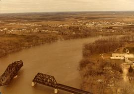 Aerial of 1974 Flood – Bergen Cutoff Bridge