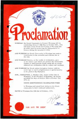 Proclamation - Greek Independence Celebration Week
