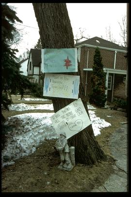 1997 flood - Kingston Row - signage