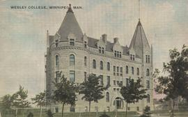 Wesley College, 515 Portage Avenue, northwest corner of Portage Avenue and Balmoral Street