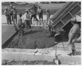 Pavement construction Project L, Pembina Highway (between Corydon Avenue and Grant Avenue), September 12, 1963