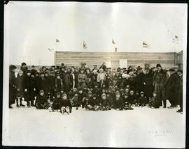 Group photo on skating rink