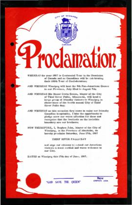 Proclamation - Thief River Falls Day