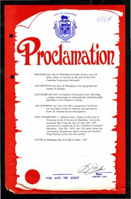Proclamation - Canada's Drag Racing Centre