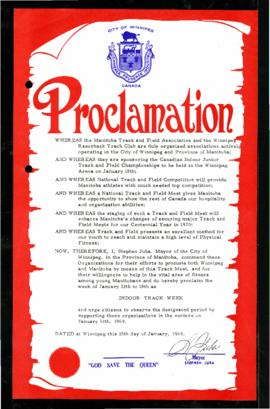 Proclamation - Indoor Track Week