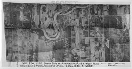 Aerial photograph south side of Assiniboine River, west from Assiniboine Park, 1943