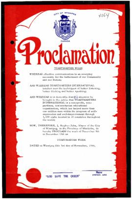 Proclamation - Toastmaster Week