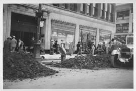 No. 4 Renewal of 8 inch cast iron water pipe in Portage Avenue from Kennedy Street to Main Street with 10 inch transit pipe, laid June, 1938