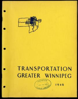 Preliminary Report on Transportation - Metropolitan Plan for Greater Winnipeg