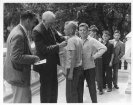 Mayor Garnet Coulter and Junior Mayors, July 29, 1947