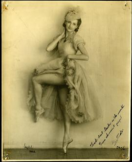 Signed picture of Gertrude Ryall