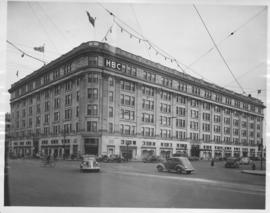 Hudson's Bay Company Store from Portage Avenue at Memorial Boulevard