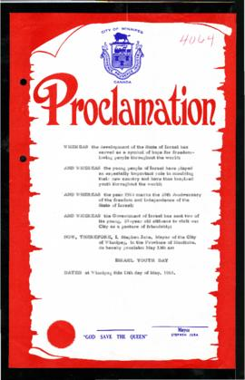 Proclamation - Israel Youth Day