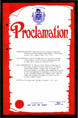 Proclamation - Holiday for CKY employees