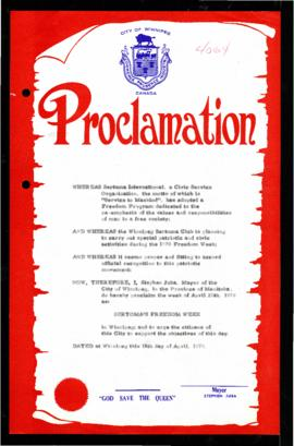 Proclamation - Sertoma's Freedom Week