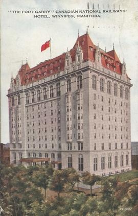 The Fort Garry Canadian National Railways' Hotel, Broadway and Fort Street