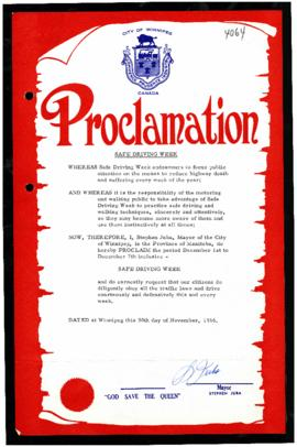 Proclamation - Safe Driving Week